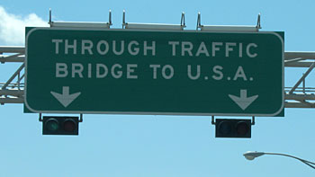 "Sign ""Bridge to USA"". (novala)"